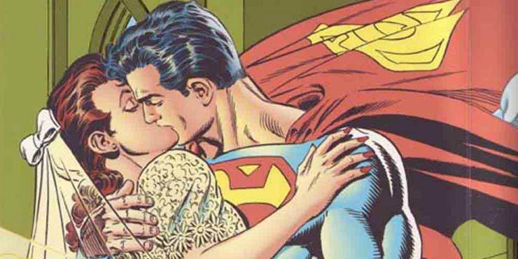 superman lois lane wedding kiss - Los 10 romances más extraños de Superman en los cómics