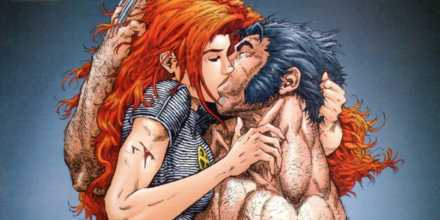 Wolverine jean grey kiss