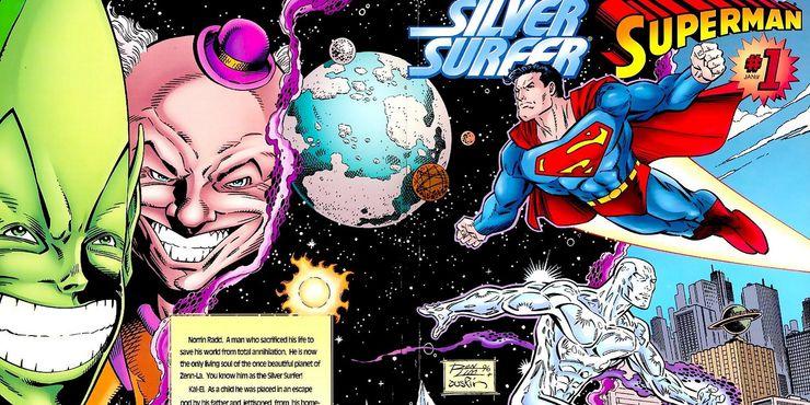 superman silver surfer 1 - Las 15 bromas más locas que Mr. Mxyzptlk le ha hecho a Superman