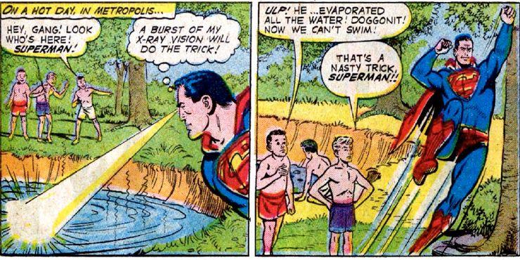trio of steel - Las 15 bromas más locas que Mr. Mxyzptlk le ha hecho a Superman