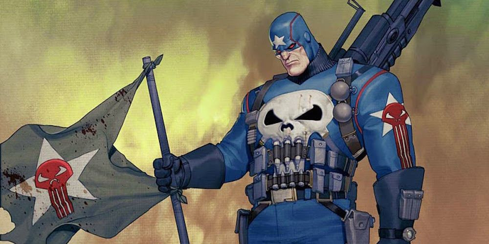 The Punisher as Captain America