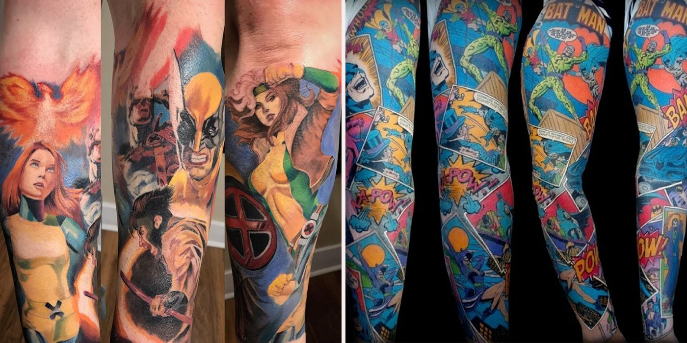 The 15 Most Elaborate Comic Inspired Fan Tattoos Cbr