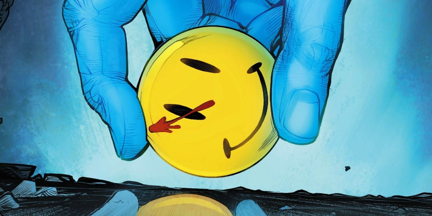 The Long Strange Dcu Journey Of The Comedians Smiley Face Button