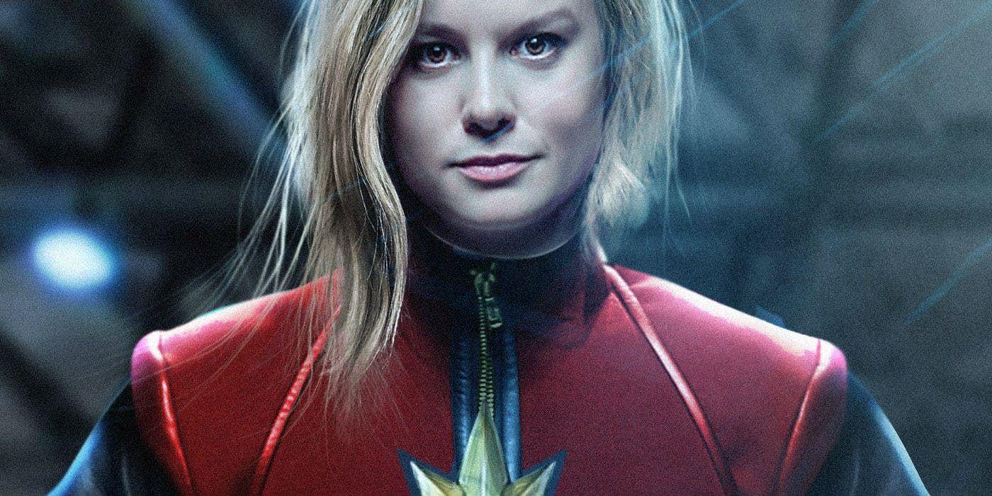 brie larson's captain marvel featured in new avengers 4 promo art