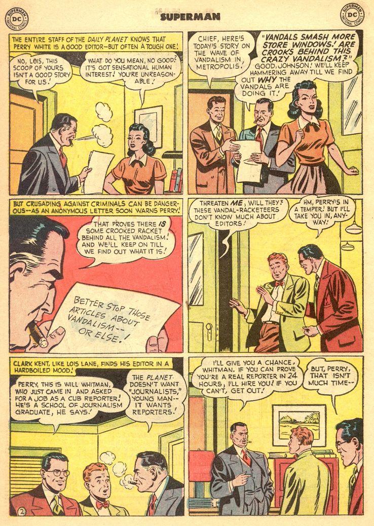 """superman 72 1 - ¿Cuándo dijo Perry White por primera vez """"Por el Fantasma del Gran César"""" en los cómics?"""
