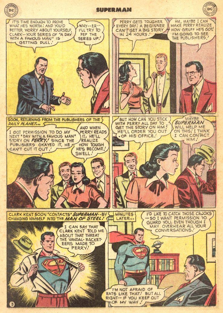 """superman 72 2 - ¿Cuándo dijo Perry White por primera vez """"Por el Fantasma del Gran César"""" en los cómics?"""