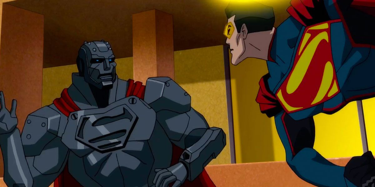 Steel Clashes with the Eradicator in Reign of the Supermen Clip