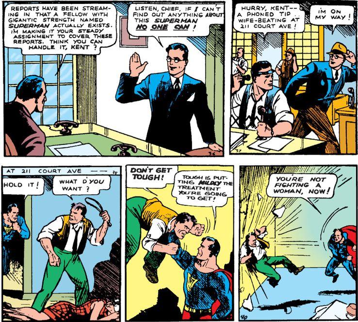 action comics 1a 1 - ¿Qué le pasa a la ropa de Clark Kent cuando se convierte en Superman?