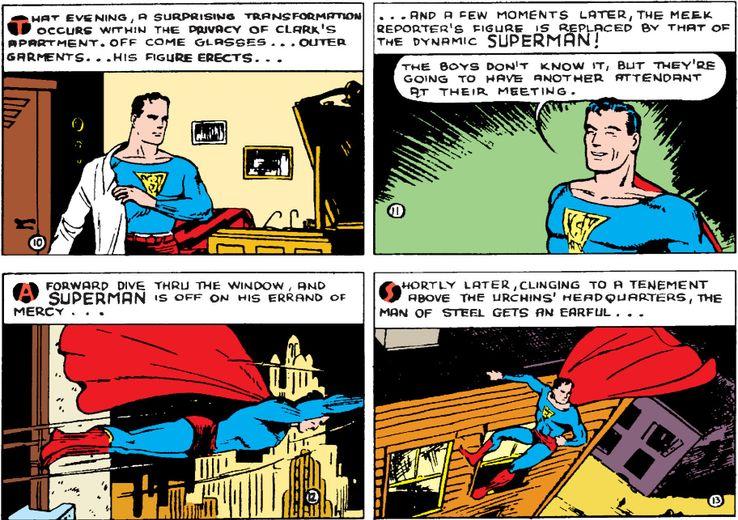 action comics 8a - ¿Qué le pasa a la ropa de Clark Kent cuando se convierte en Superman?