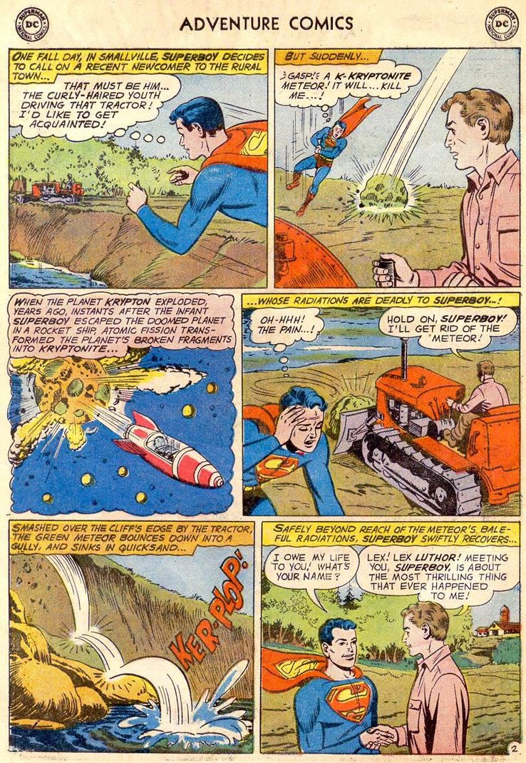 adventure comics 271 1 - ¿Cuándo conoció Superboy a Lex Luthor?
