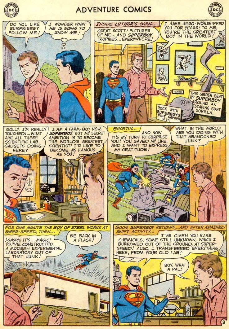 adventure comics 271 2 - ¿Cuándo conoció Superboy a Lex Luthor?