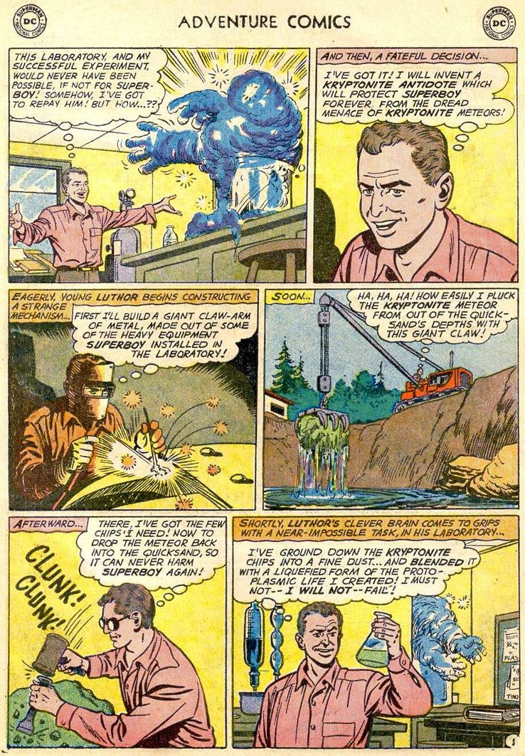 adventure comics 271 4 - ¿Cuándo conoció Superboy a Lex Luthor?