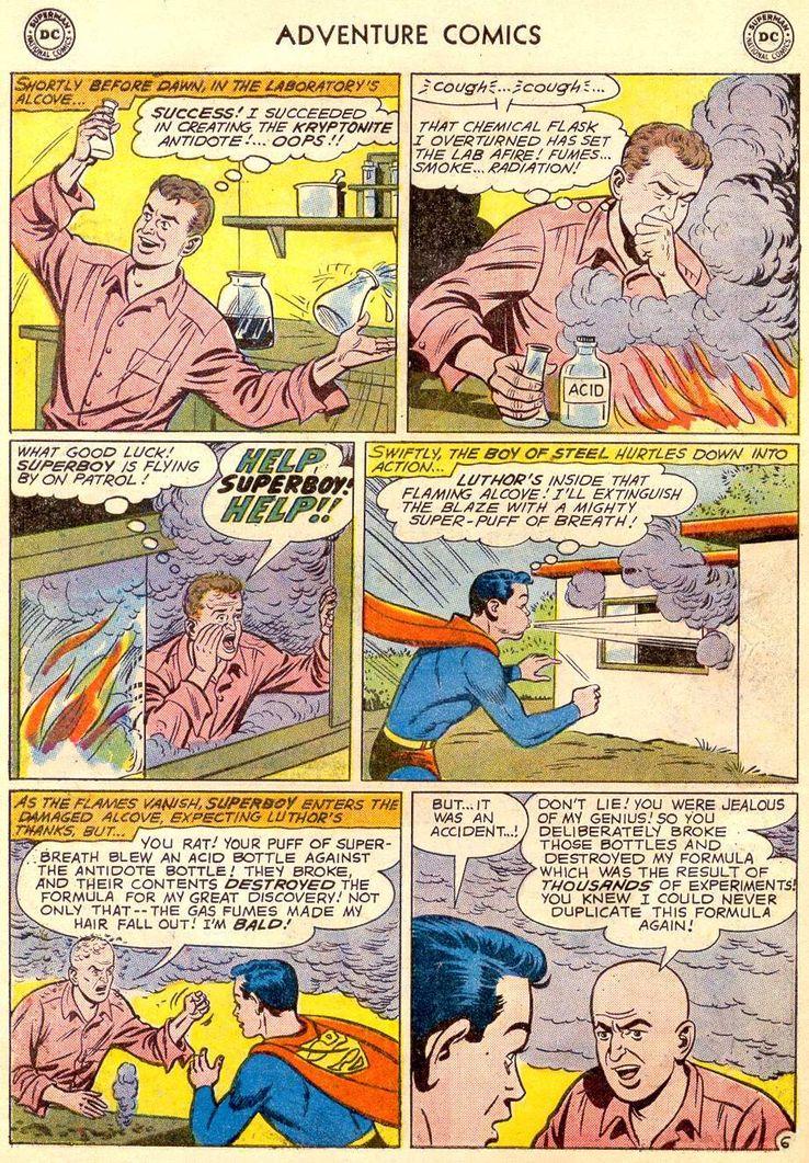 adventure comics 271 5 - ¿Cuándo conoció Superboy a Lex Luthor?