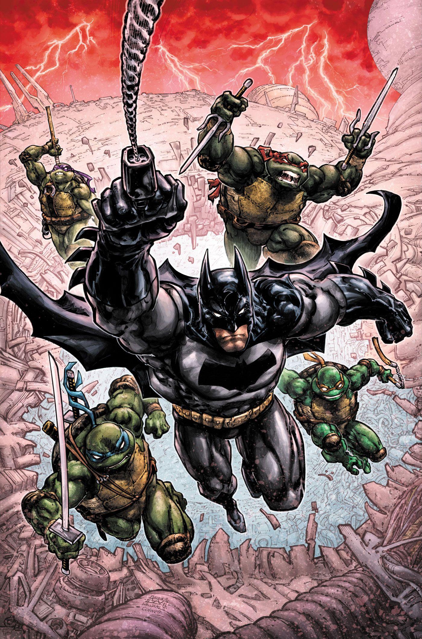 Batman/Teenage Mutant Ninja Turtles v.3 #1 Sets Up A Gem of a Crossover