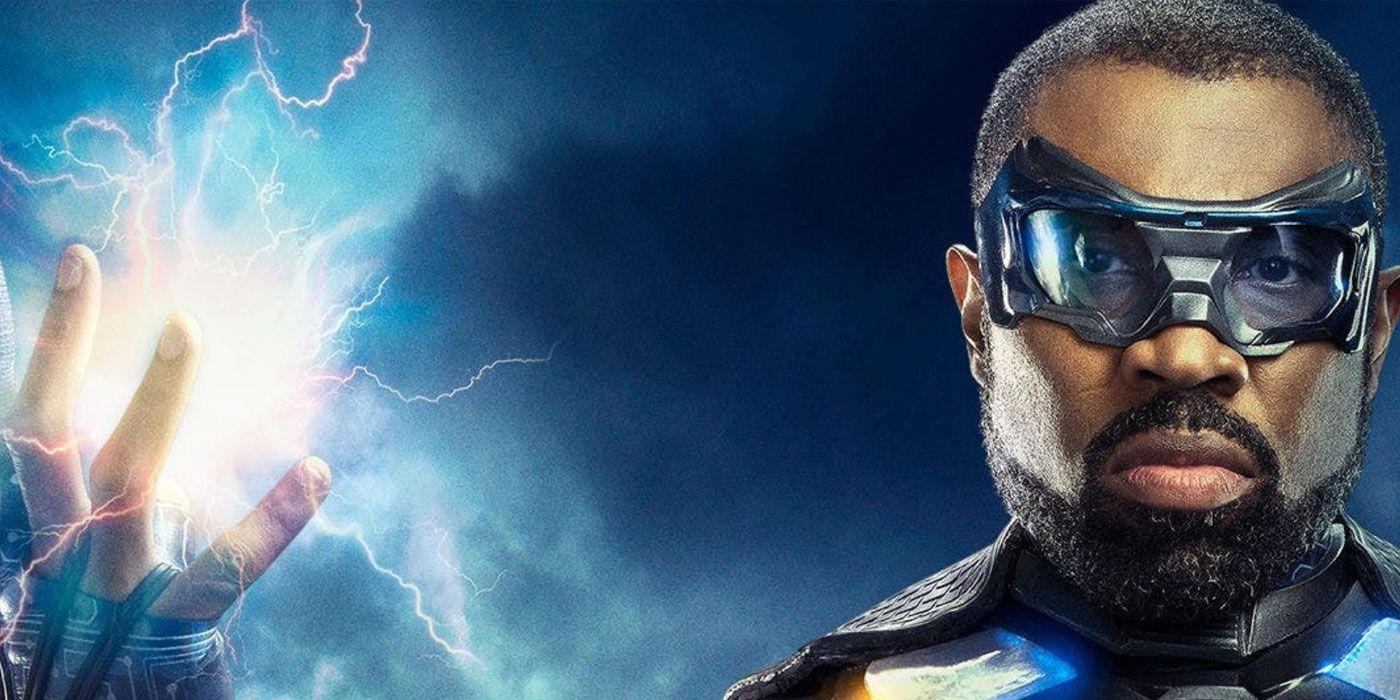 Black Lightning Controls Legends' Waverider in New Crisis Image