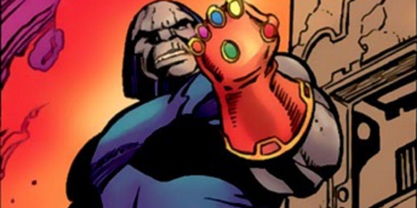 Would DC's Darkseid Beat Marvel's Thanos With The Infinity ... |Darkseid Infinity Gauntlet
