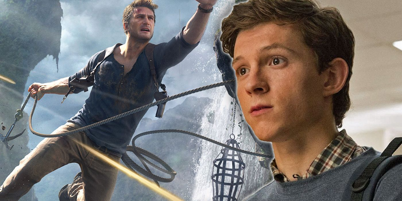 Uncharted Tom Holland Shows Off His New Abs Via Mark Wahlberg