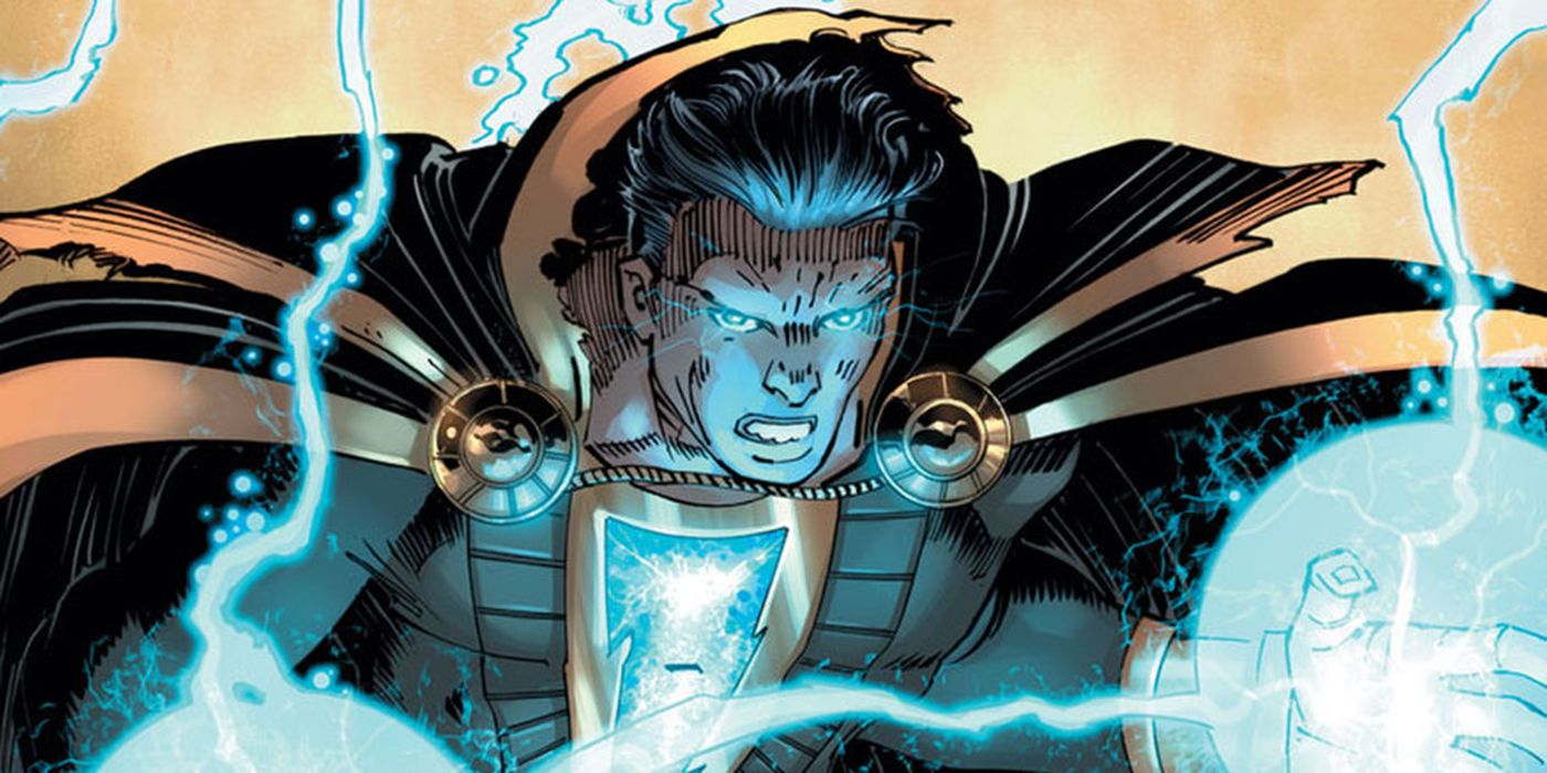 Black Adam Battles Shazam Who Laughs in DC's Year of the Villain