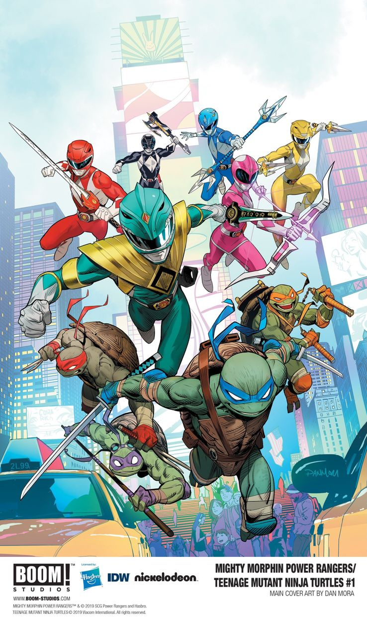crossover comics des Tortues Ninja avec les Power Rangers