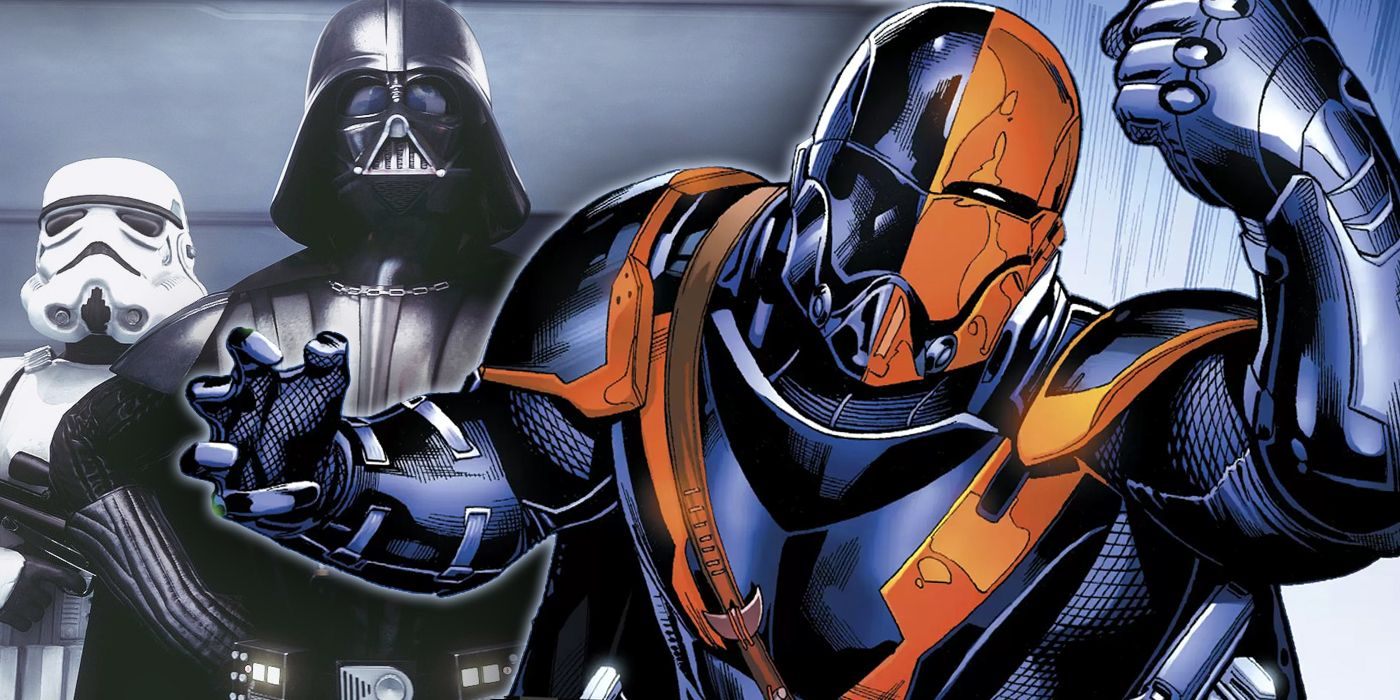 Old Man Deathstroke Looks Like a Stormtrooper & Acts Like Darth Vader