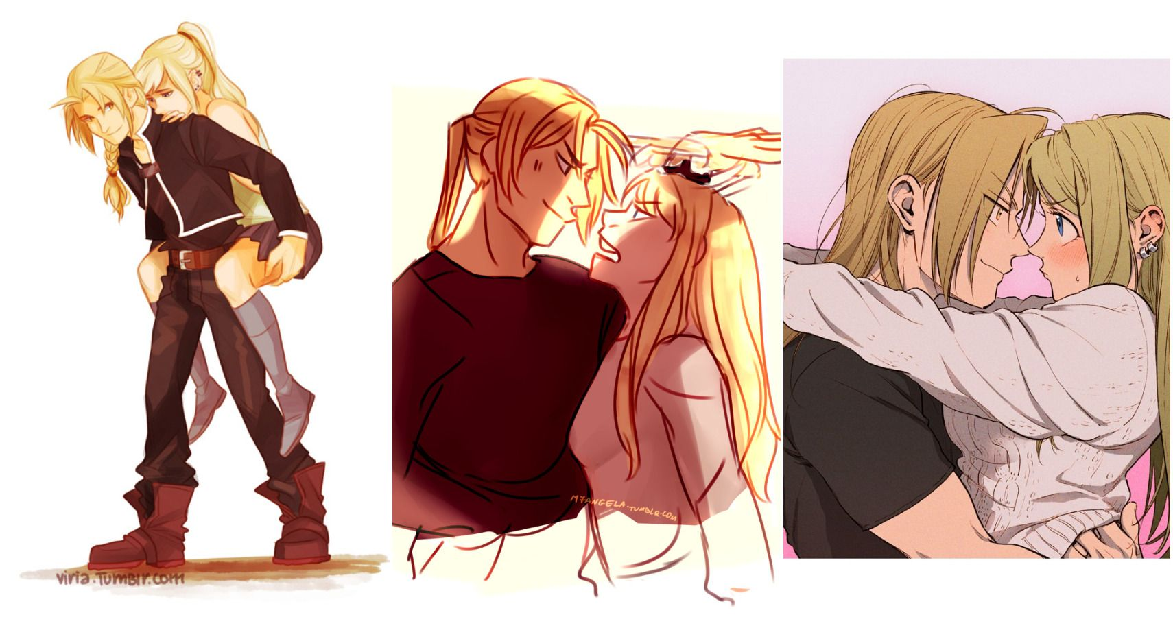 Fullmetal Alchemist 10 Pieces Of Ed Winry Fan Art That Are Too