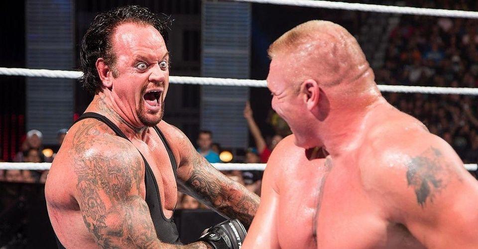 Wwe Undertaker Explains His Meme Worthy Laugh At Brock Lesnar