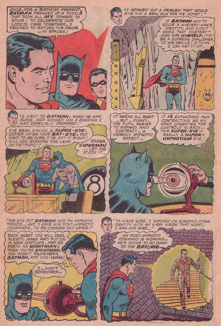 worlds finest comics 155 5 - Cuando Superman le hizo a Batman el regalo de aniversario más retorcido