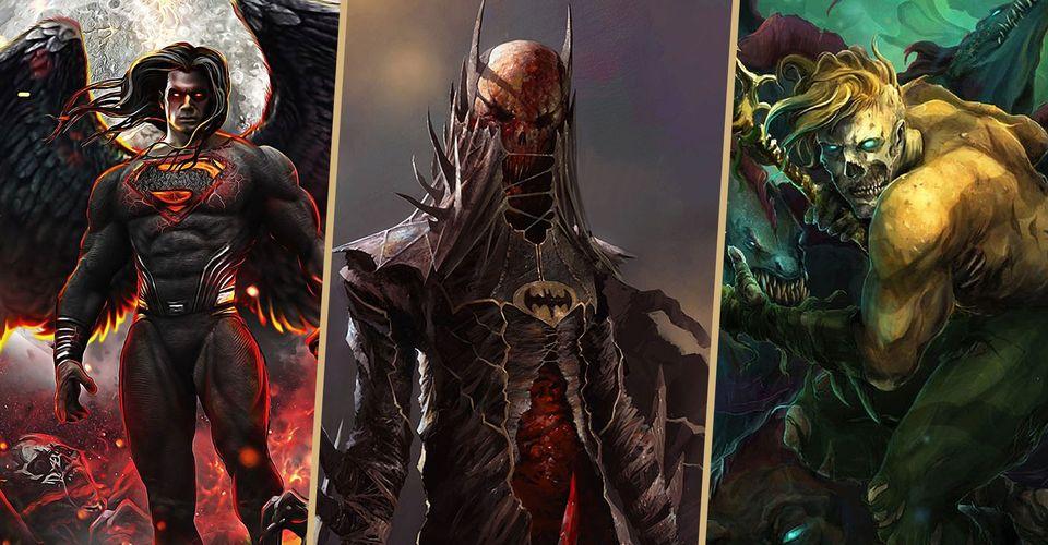 10 Dc Superheroes Reimagined As Terrifying Villains In Fan Art