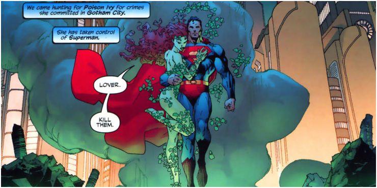 DC Superman Poison Ivy 1 Cropped - Los 10 romances más extraños de Superman en los cómics