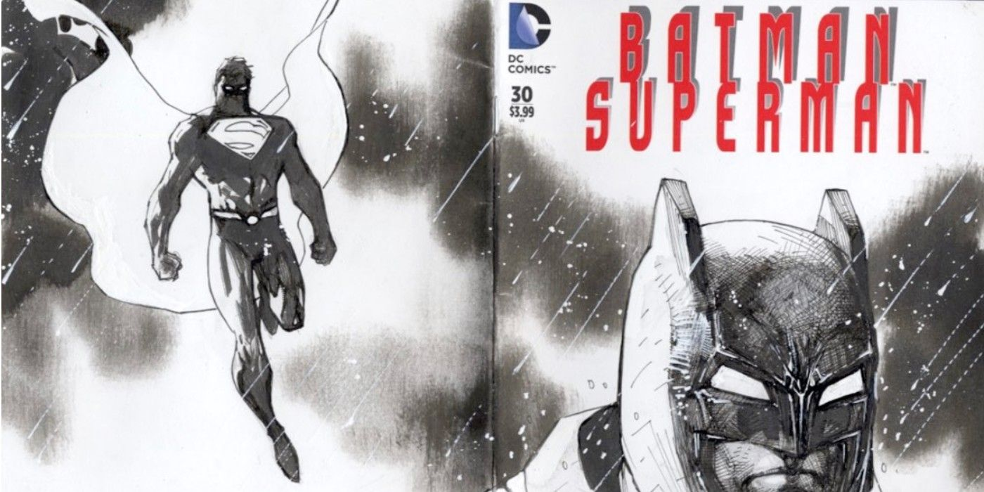 Jim Lee Auctioning Batman/Superman Sketch For Freeze HD Virtual Event to Benefit HDSA