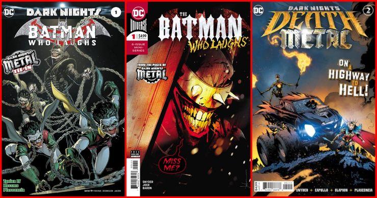 Las portadas de cómics de Batman Who Laughs.