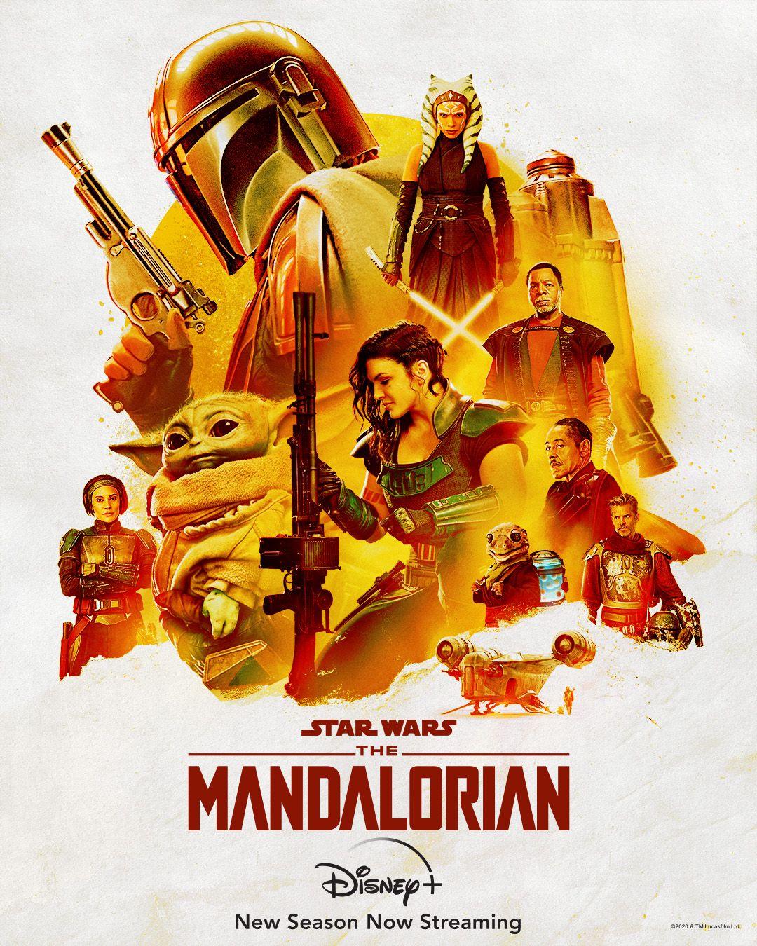 Pôster de The Mandalorian mostra todo o elenco da segunda temporada 1