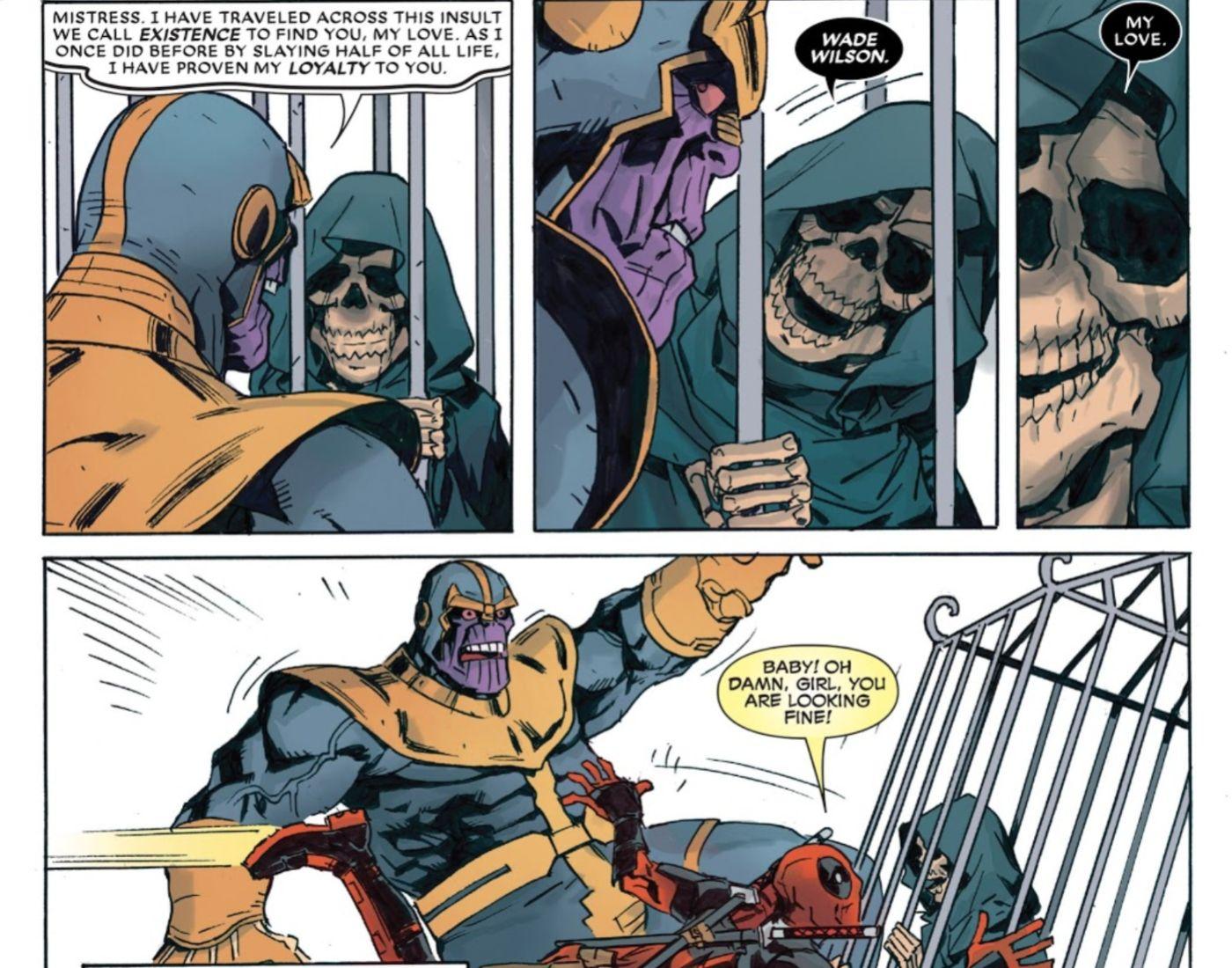 A rivalidade mais pessoal de Thanos sempre foi com Deadpool ?! 3