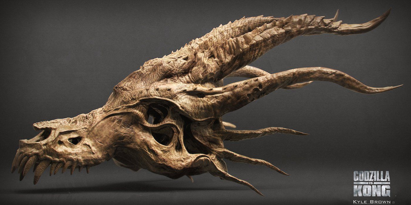 Godzilla vs. Kong Concept Art Takes You on a Tour of Ghidorah's Severed Head