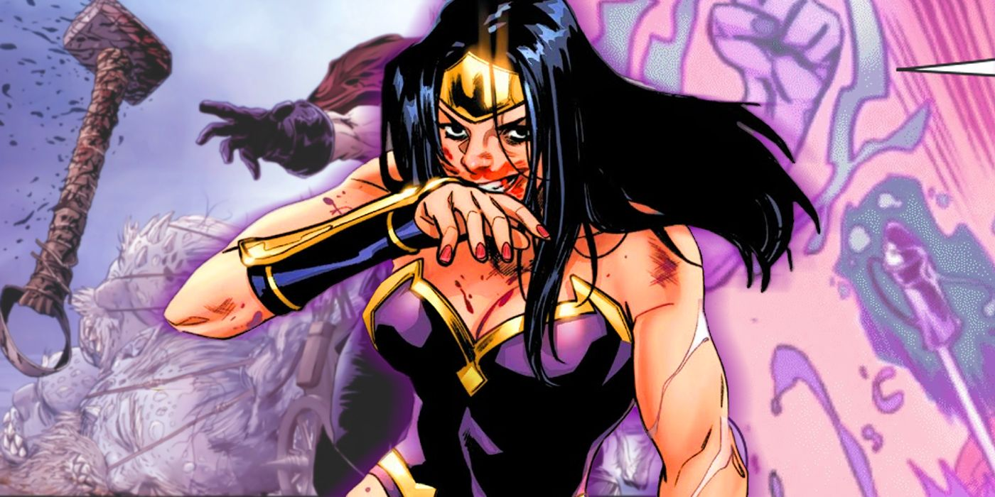 Marvel's Wonder Woman Puts a Gruesome Twist on a Classic Thor Move