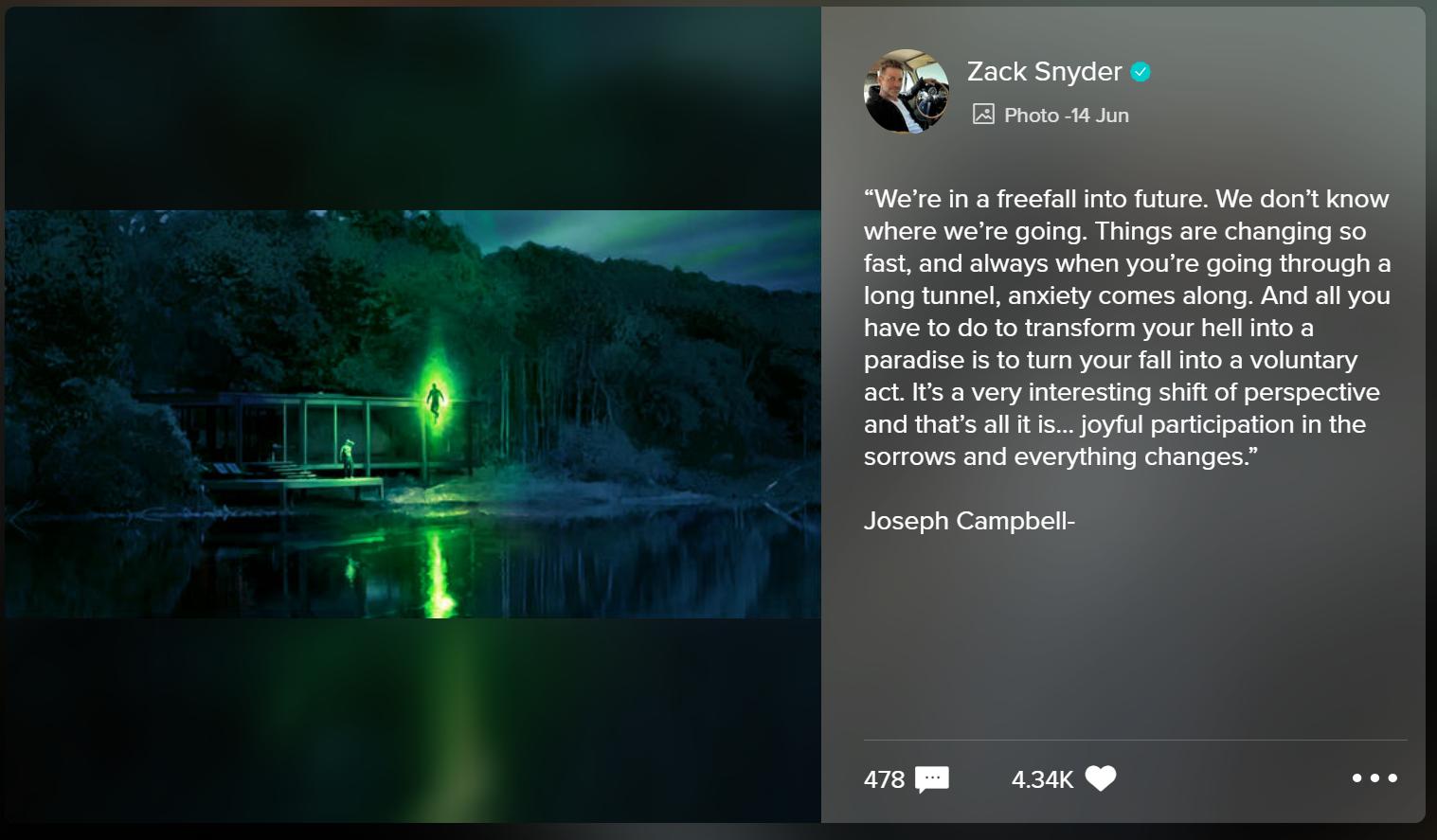 Zack Snyder compartilha a nova arte conceitual da Liga da Justiça do Lanterna Verde 1