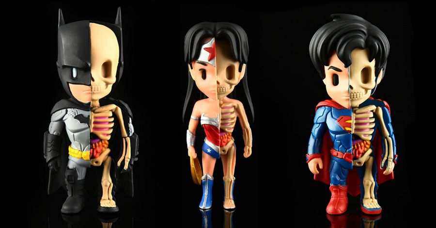 DC heroes get dissected in XXRay collectible figure line